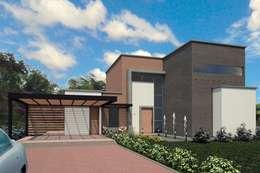 VIVIENDA EL CARMEN: Casas de estilo moderno por G2 ESTUDIO