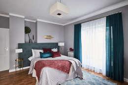 Główna sypialnia : styl , w kategorii Sypialnia zaprojektowany przez Mhomestudio
