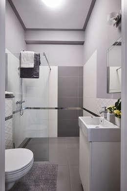Łazienka parter: styl , w kategorii Łazienka zaprojektowany przez Mhomestudio