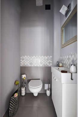 Toaleta parter: styl , w kategorii Łazienka zaprojektowany przez Mhomestudio