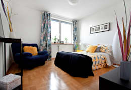 Sypialnia po homestagingu: styl , w kategorii  zaprojektowany przez Mhomestudio