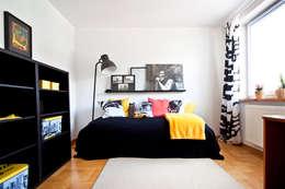 Druga sypialnia po homestagingu: styl , w kategorii  zaprojektowany przez Mhomestudio