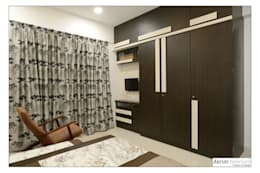 Guest Bed: modern Bedroom by Akruti Interiors Pune