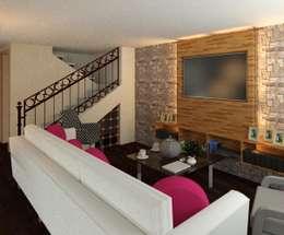modern Living room by Perfil Arquitectónico