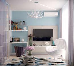 minimalistic Bedroom by Студия интерьерного дизайна happy.design