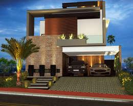 Casas de estilo moderno por Igor Cossalter Arquitetura + Design