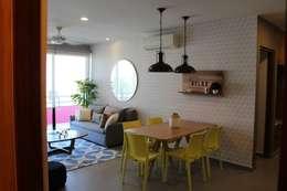 2 Lunada Playa del Carmen.: Salas de estilo moderno por Spacelab interiorismo tropical