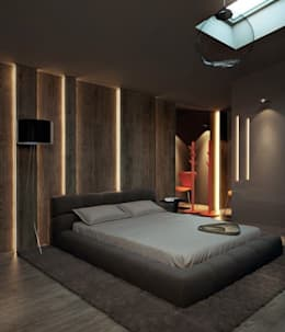 INTERIOR FLAT: modern Bedroom by Archie-Core