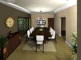 Comedores de estilo minimalista por HC Arquitecto