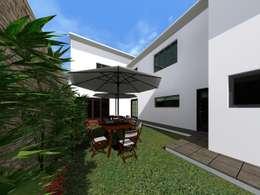 Jardines de estilo minimalista por HC Arquitecto