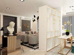 Pasillos y vestíbulos de estilo  por HC Interiores