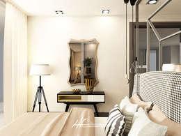 Habitaciones de estilo moderno por HC Interiores