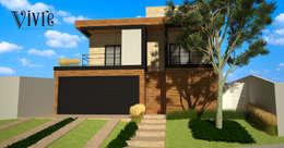 Casas de estilo moderno por Vivre Arquitetura | Projetos e Franquias