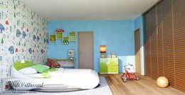 Recamara para Niño: Recámaras infantiles de estilo moderno por Citlali Villarreal Interiorismo & Diseño