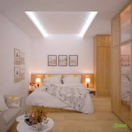 Phòng ngủ chính:   by Công ty TNHH Thiết Kế và Ứng Dụng QBEST