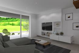 Projeto Jaspe: Salas de estar modernas por Magnific Home Lda