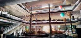 Centro comercial Conjunto Comercial y habitacional Mocambo: Centros Comerciales de estilo  por TaAG Arquitectura
