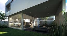 Fachada Posterior Casa AI: Casas de estilo minimalista por TaAG Arquitectura