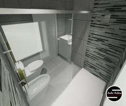 Baños de estilo moderno de André Terleira - Arquitectura e Construção