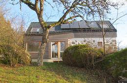 Um- & Zubau Bergtischler: moderne Häuser von illichmann-architecture