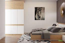 Phòng ngủ 2 vợ chồng:   by Công ty TNHH Thiết Kế và Ứng Dụng QBEST