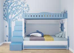 Phòng ngủ trẻ em:   by Công ty TNHH Thiết Kế và Ứng Dụng QBEST