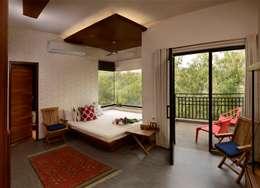 غرفة نوم تنفيذ Saka Studio