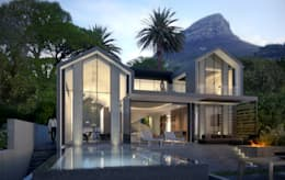 Tamboerskloof House 1 : minimalistic Houses by GSQUARED architects