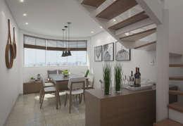 Comedores de estilo moderno por Filipe Castro Arquitetura   Design
