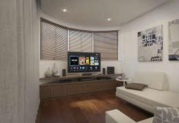 Salas / recibidores de estilo minimalista por Filipe Castro Arquitetura   Design