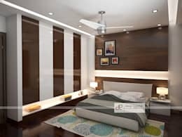 Villa at Jay Pee Greens Greater Noida : modern Bedroom by Design Essentials