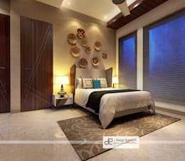 Villa at Jay Pee Greens Greater Noida : minimalistic Bedroom by Design Essentials