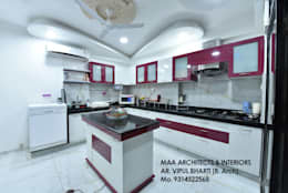 M.M Mehta Ji : modern Kitchen by MAA ARCHITECTS & INTERIOR DESIGNERS