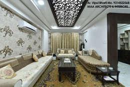 M.M Mehta Ji : modern Living room by MAA ARCHITECTS & INTERIOR DESIGNERS