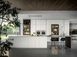COCINA YOTA - ATELIER CASA - ARMONY CUCINE: Cocinas de estilo moderno por ATELIER CASA S.A.S
