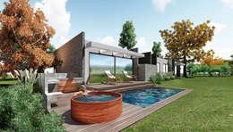 casa Asturias- prediseñada - valor desde 2950 uf.: Casas de estilo moderno por NEF Arq.