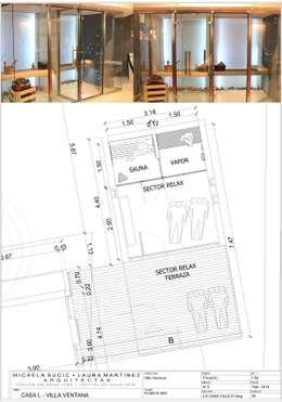 CASA L - VILLA VENTANA - COMARCA TURÍSTICA SIERRA DE LA VENTANA - PROVINCIA DE BUENOS AIRES: Spa de estilo moderno por MSA ESTUDIO DE ARQUITECTURA