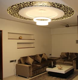 Living space: modern Living room by Vinayak Interior | Interior Designing and Decorator Companies