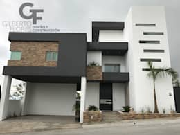Fachada Ppal.: Casas de estilo moderno por GF ARQUITECTOS