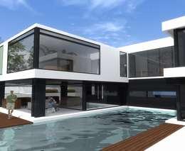 El Velero 340, Las Lagunas, La Molina, Lima: Casas de estilo moderno por MGR