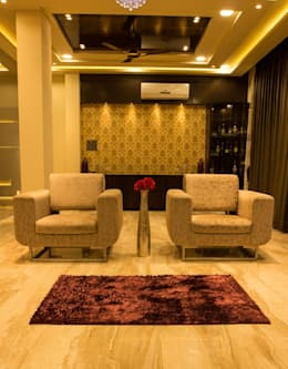 Singh Bunglow - Kalyan: modern Living room by Aesthetica