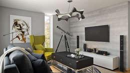 غرفة المعيشة تنفيذ Hampstead Design Hub