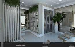Hall de Entrada: Corredores e halls de entrada  por Levolú Interiores e Arquitetura