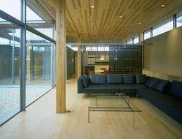東谷山の住宅: アトリエ環 建築設計事務所が手掛けたリビングです。