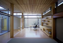東谷山の住宅: アトリエ環 建築設計事務所が手掛けた書斎です。