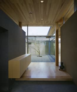 東谷山の住宅: アトリエ環 建築設計事務所が手掛けた廊下 & 玄関です。