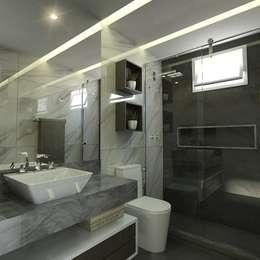 Sanitário suíte: Banheiros ecléticos por Ayslan Porfirio Arquitetura
