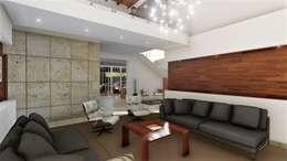 Sala de estar: Salas de estilo moderno por IAD Arqutiectura