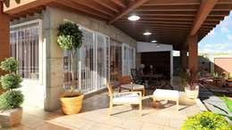 Corredores: Casas de estilo mediterraneo por IAD Arqutiectura