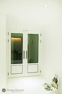 광장동 현대홈타운: Design Daroom 디자인다룸의  복도 & 현관